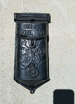 Antique Cast Iron no. 3 Mailbox Numbered