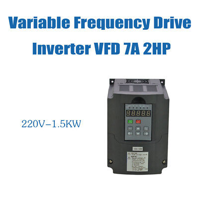 GOOD ITEM 1.5KW 220V VSD VFD Variable Frequency Drive Inverter 2HP 7A HQ