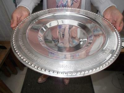 Very Large Vintage Silver Plated Revolving Serving Centrepiece Lazy Susan 42Cm
