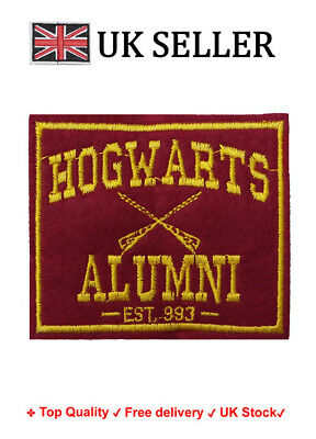 Hogwarts Alumni DIY Iron / Sew On Embroidered Patch Embroidery Badge fan art
