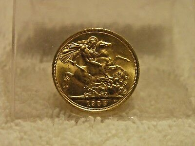 Great Britain 1958 Gold Sovereign Elizabeth Brilliant Uncirculated Coin