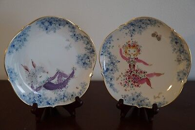 Meissen A Pair Of Dessert Plates With The Midsummer Night's Dream Theme 1st Qual