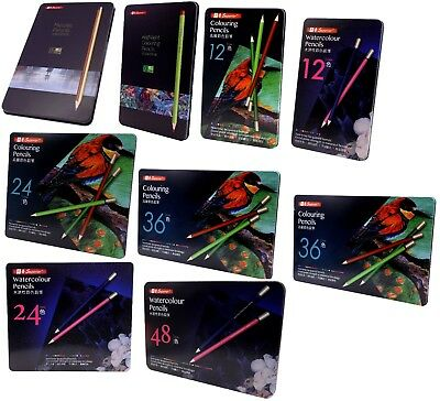 Artist Water Classic Metallic & Highlight Colouring Pencils 12, 24, 36 & 48