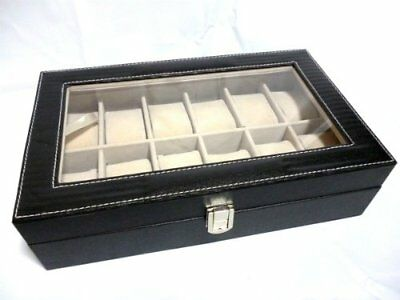 M - B Toys - 12 Osamu/ black leather-like case - watch  collection (PVC black)
