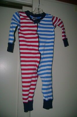 Hanna Andersson red, white & blue stripes organic cotton sleeper-70  9 to 18 mo