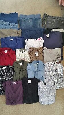 Lot of 22 pieces of Maternity clothes, Size Large, Motherhood, Oh Baby, Old Navy