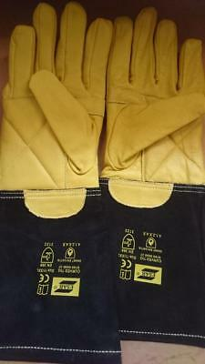 High Quality Esab Curved TIG Welders Gauntlets Welding Gloves x 1 pair size 11