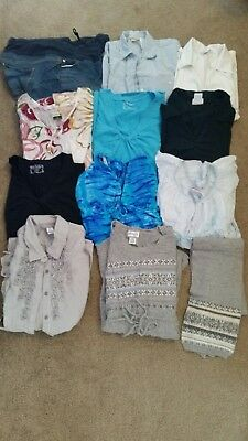 Lot of 11 piece X-LARGE Maternity clothes GUC, Bathing Suit never worn