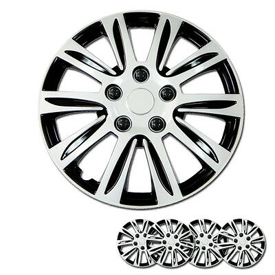 Set Of 4 New Hub Caps Abs Silver 14 Inch Rim Wheel Cover Hubcaps