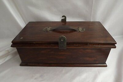 antique wooden box tie press everitts
