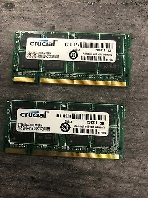 4GB (2x2GB) PC2-5300s DDR2-667MHz/PC2-6400 Laptop Memory SODIMM Intel 200pin US
