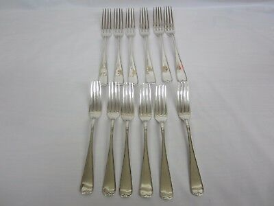 12 Antique Dinner Forks 830 Solid Silver Thune Norway  8 &3/8 inch 854 grams