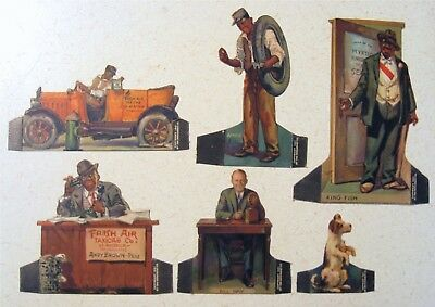 1931 PEPSODENT Adv. STORE STANDUP - AMOS 'n' ANDY DIE CUT PAPER DOLLS(6)