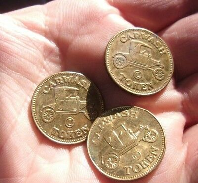 LOT of (3) CARWASH TOKEN COINS NO CASH VALUE