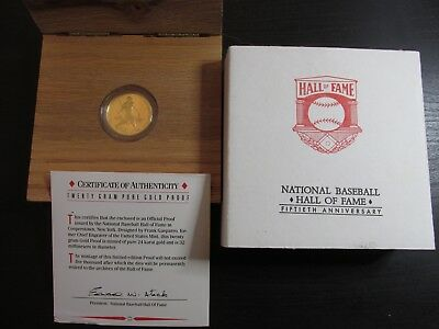 1989 (50th Anniversary Cooperstown) National Baseball Hall of Fame Gold Coin