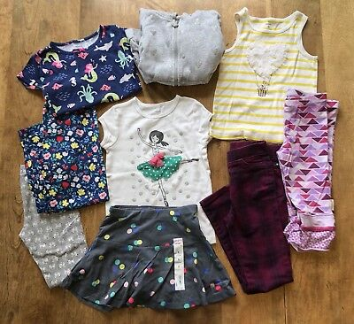 Handpicked 5T Little Girls 9 Piece Summer/Fall Shirts/Pants/Pajamas Clothes LOT