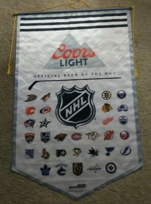 Official Coors Light NHL cloth banner