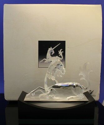 Swarovski Austrian Crystal Fabulous Creatures Unicorn With Box & Stand