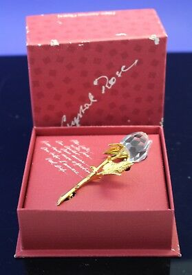 Swarovski Austrian Crystal Rose Pin Brooch