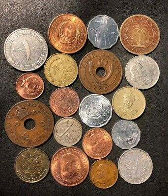 Old Africa Coin Lot - 1936-Present - 19 UNCOMMON Type Coins - Lot #614