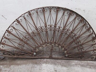 Garden Antique Arched Wrought Iron Gate Scroll Wall Art