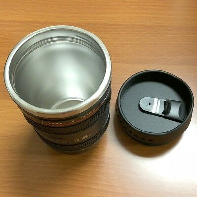Camera Lens Cup 24-105 Coffee Travel Mug Thermos Stainless Steel US Seller
