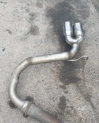 VW Golf MK5 2.0TDi 170BHP  Exhaust Rear Silencer Delete Tailpipe Twin