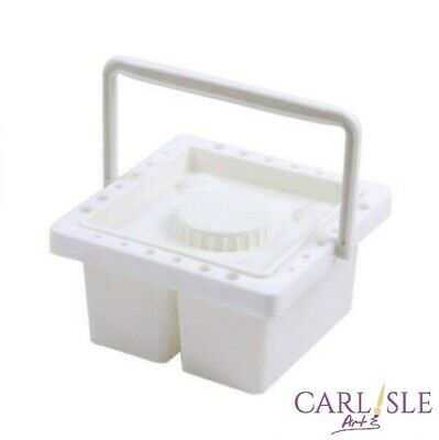 Plastic Brush Washer With Lid & Handle