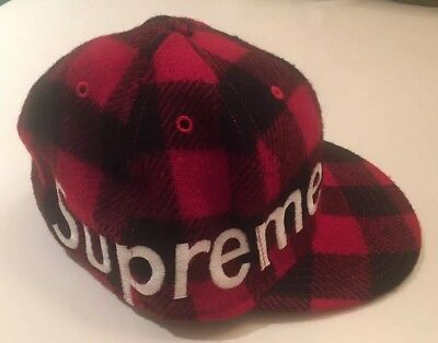 6762fe3939028 SUPREME NEW ERA Fitted Hat Red Lumberjack FW07 -  80.00