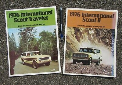 1976 International Scout Traveler & Scout Ii Brochures Great Condition