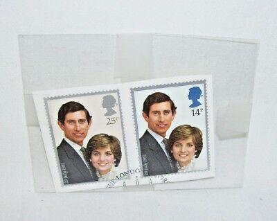 Set of Two Stamps The Royal Wedding of Prince Charles and Diana July 29 1981
