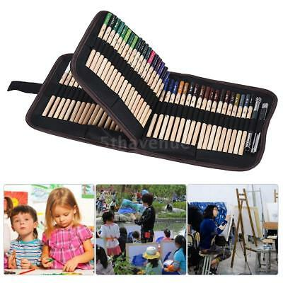 72 Colored Pencils Set Art Sketching Drawing Painting Portable Canvas Case Bag
