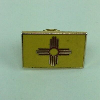 State Of New Mexico Zia Symbol Enamel Metal Lapel Hat Pin  Tie Tack