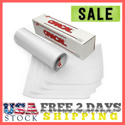 """Transfer Tape Roll Paper Vinyl 12""""X 5 Clear Grid Adhesive W Craft Oracal Cricut"""