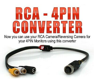 iPoster RCA to 4PIN Female Connector Converter Adaptor for Reversing Camera