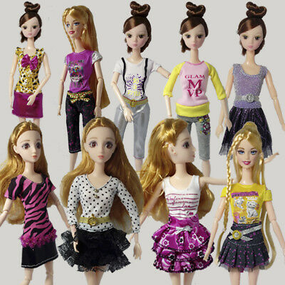 "10pcs/lot Beautiful Handmade Pretty Dress For 11.5"" Doll Clothes Fashion Outfit"