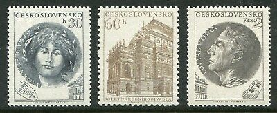 1953 Czechoslovakia.  70th Anniversary of National Theatre.  Full set of 3 MUH.