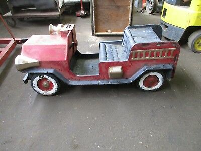 Old US Tronics coin operated kiddy ride fire truck body only,poor/fair condition