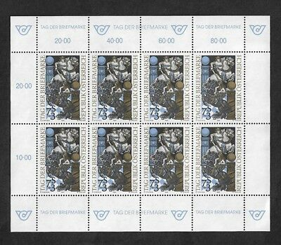 AUSTRIA 1993 Stamp Day, mint mini sheet, MNH MUH