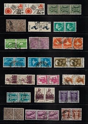 INDIA - mixed collection, joined pairs & strips, No.20