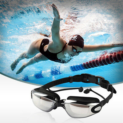 Anti-Fog Swimming Goggles Glasses for Women Men Boys Girls Adult Kids Earbud