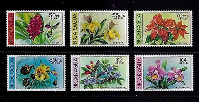 NICARAGUA 1979 Flowers, Air mail, mint set of 6, MNH MUH