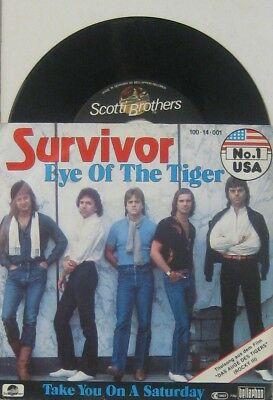 """Survivor  Eye of the tiger / take you on a saturday , 7"""" 45"""