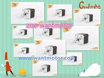 5days!10pcs Wantai Nema17 Stepper Motor 42BYGHW609L20P1-X2 Single Flat&Connect