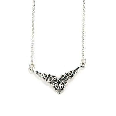 Fine Jewelry Necklace with Pendant Celtic Antique Design 925  Sterling Silver