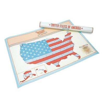 Luckies of London SCRATCH MAP USA TRAVEL EDITION POSTER Record Your Travels