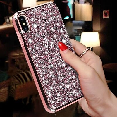 Shockproof Bling Glitter Diamond Phone Case Luxury Cover For iPhone X 6 7 8 Plus