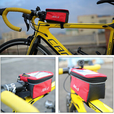 Cycling Bicycle Bike Frame Pannier Front Tube Bag Accessory Phone Pouch Holder