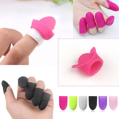 10pcs Nail Art Tips UV Gel Polish Remover Wrap Silicone Elastic Soak Off Cap