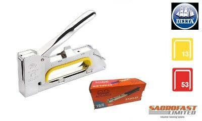 Delta 200 Metal Hand Tacker With Free Box Staples